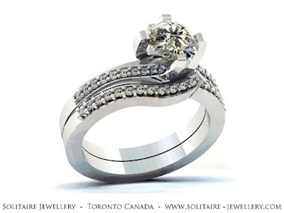 Wedding Bands on Solitaire Jewellery  Engagement Ring   Matching Wedding Band