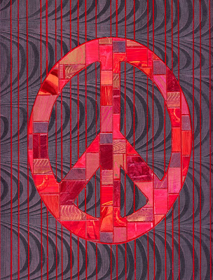 paper mosaic peace sign