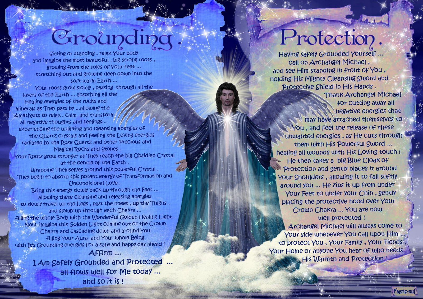 Minky Things Xxx Grounding And Protection Archangel