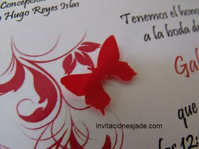 The red fine cardboard has a slight texture and A4 size The invitation is