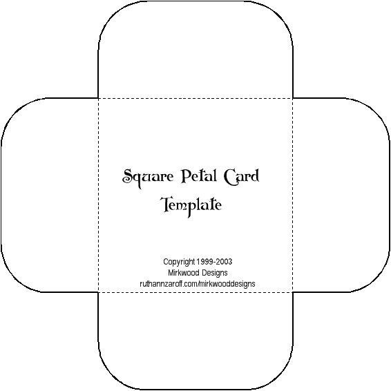 Square Petal Card Template