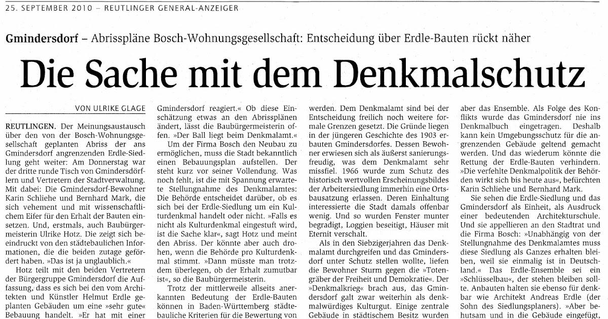 Teilabriss arbeitersiedlung gmindersdorf artikel im - Reutlinger generalanzeiger wohnungsanzeigen ...