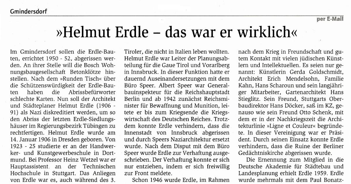 Teilabriss arbeitersiedlung gmindersdorf leserbrief im for Reutlinger general anzeiger immobilien