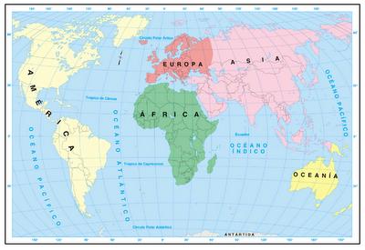 Mapa De Los Continentes Para Colorear   Imagui