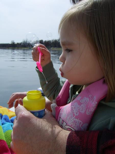 Blowing Bubbles in Boat