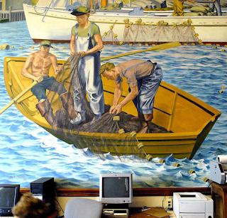 wpa, mural, maine