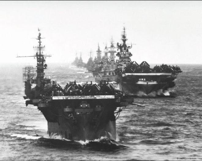 porta-aviones aliados, rumbo a la victoria
