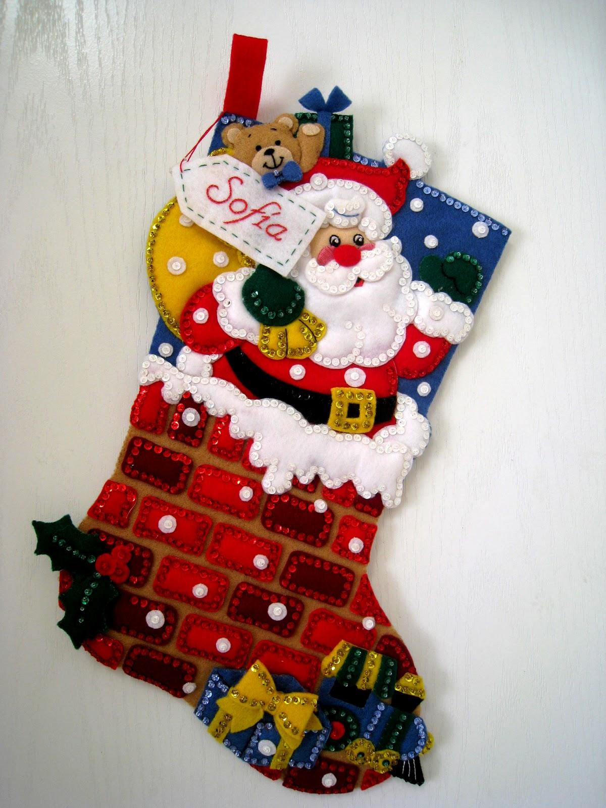 Botas De Navidad En Fieltro