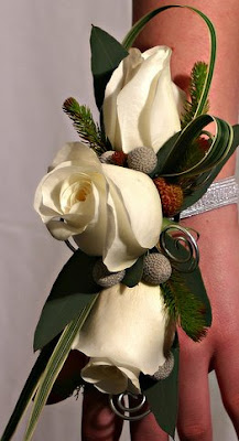 White Rose Brides Corsage