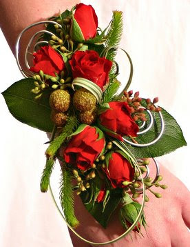 Red Rose Spray Corsage