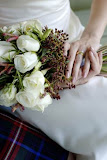 Unique flower with white rose hand tied bouquet
