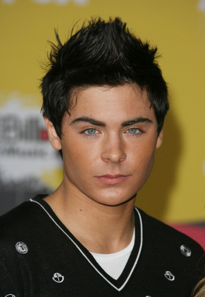 Short Hairstyle Pictures of Men - Haircuts for Men: Zac Efron with Faux Hawk