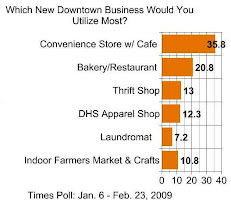 TIMES POLL: Which New Business Would You Most Like To See On Main Street?