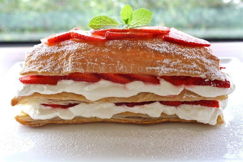 Strawberry Mille Feuille http://www.seasaltwithfood.com/2010/04 ...