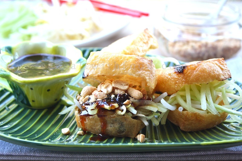 mushrooms panfried tofu with chinese black bean sauce bean sprouts ...