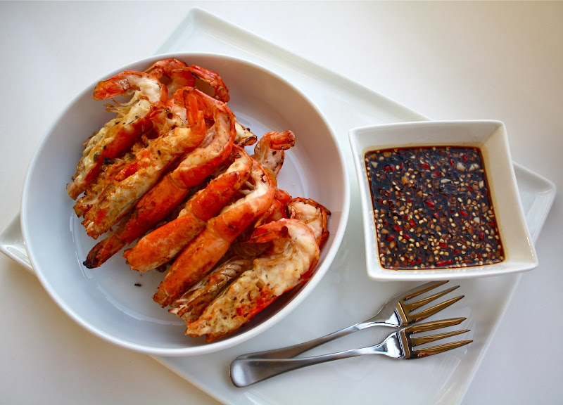 Seasaltwithfood: Grilled River Prawns With Spicy And Sweet Soy Sauce