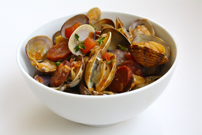 Seasaltwithfood: Steamer Clams With Beer And Chorizo