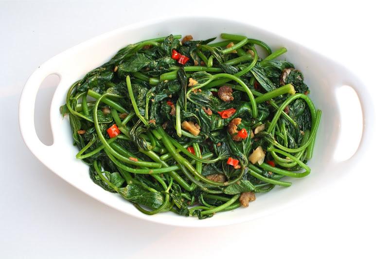 Belacan Yam Leaf (Sweet Potato Leaf) Recipe — Dishmaps