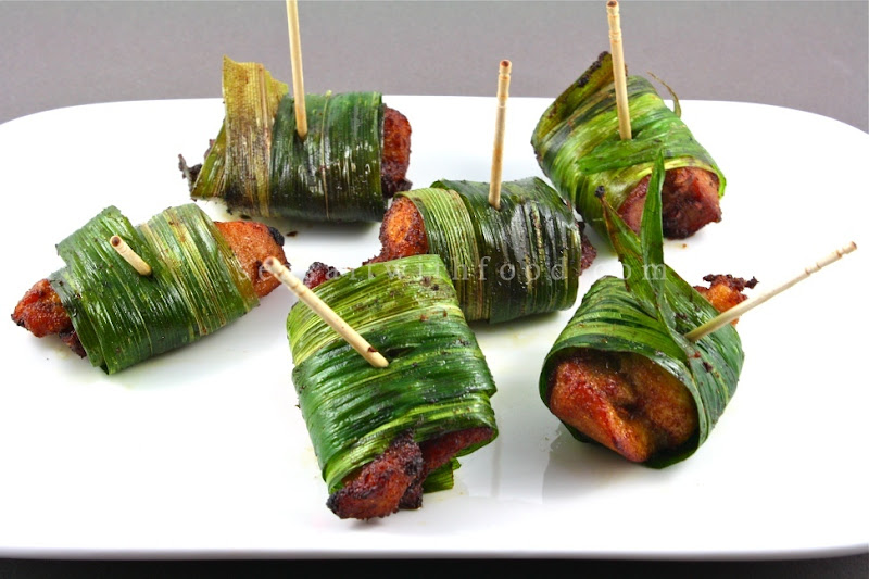 Seasaltwithfood: Chicken Wrapped in Pandan Leaves