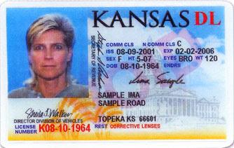 state of kansas drivers license topeka
