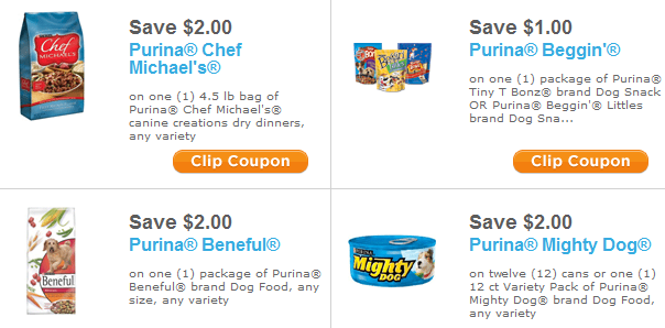 target dog food. There are 4 dog food coupons