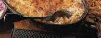 Recette de Gratin de macaroni au thon, Délicieux gratin de macaroni avec son onctueuse béchamel et ses miettes de thon.