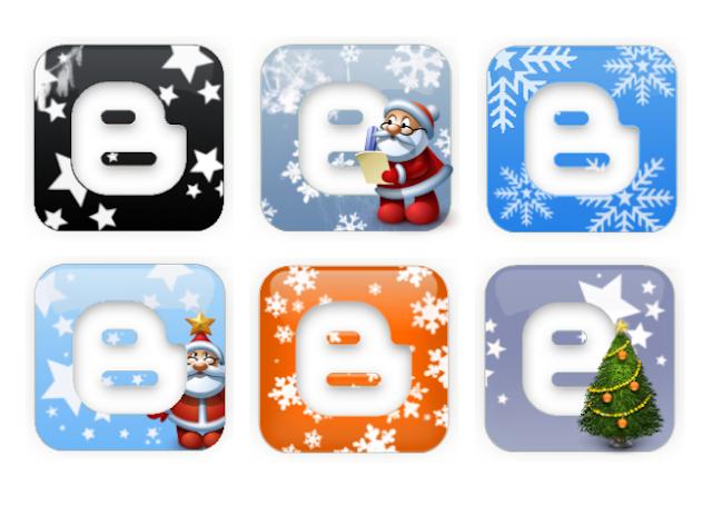 Blogger Noël Logo ou icône Blogger Noël