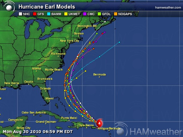 The Important Thing To Remember When Looking At Either The National Hurricane Center Forecast Track Map Next To Last Image Above Or The Computer Forecast