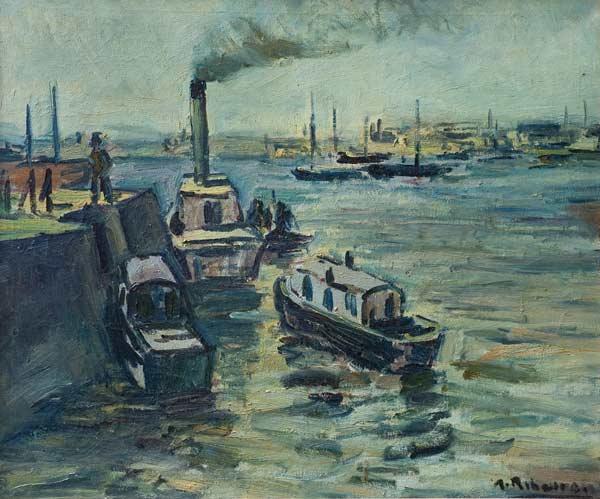 Un mar de pintura alceu ribeiro - Trabajo en el puerto ...