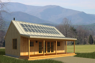 lloyd's blog: free plans for 700 sq. ft. cabin with solar panels