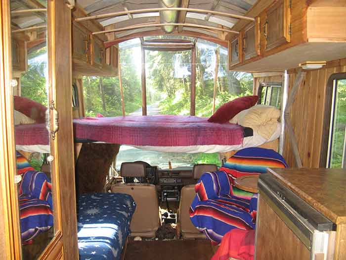 Lloyd's Blog: Interior of SunRay Kelley's Solar-Powered Gypsy Wagon