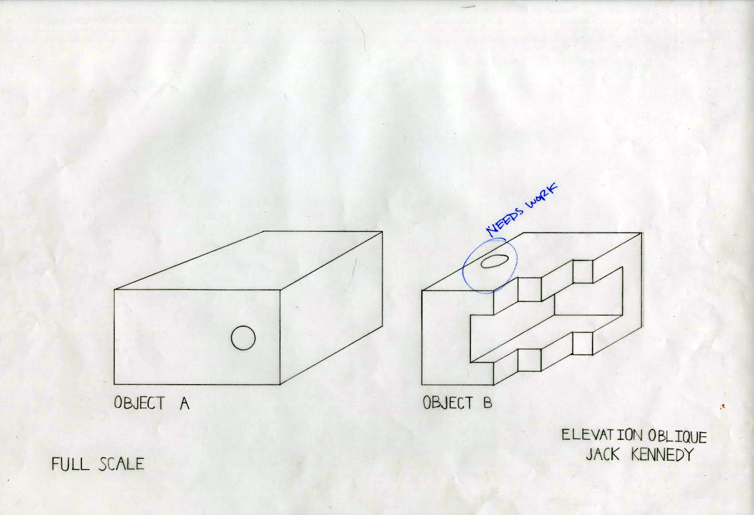 Plan Elevation Oblique : Jack looks around drafting examples