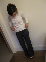 Self-made trousers and top