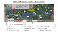 Back Woods Forest Preserve Trail Map