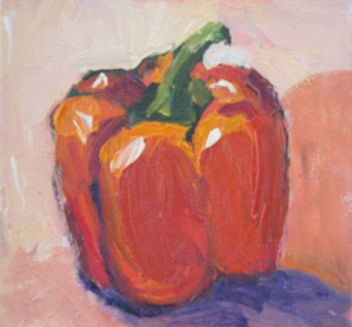 Red And Green Still Life Painting