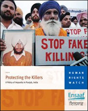 Sikhs demostrating against fake encounters