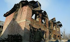 Bombardment of the Houses of kashmiris by Indian Occupational army