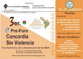 Pre-Foro Concordia Sin Violencia