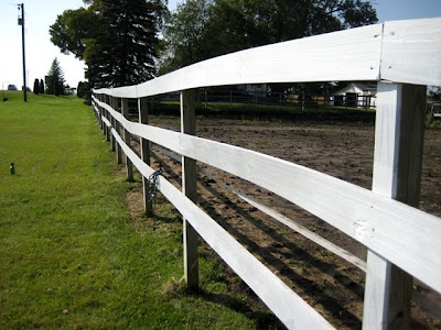 white split rail fence