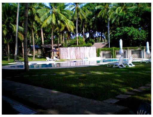 bahay, bakasyunan, sa, camiguin, swimming, pool, island