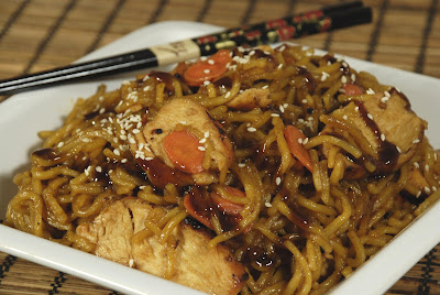Dunkin cooking the semi homemade way teriyaki chicken with yakisoba my husband and i were in the mood for oriental food and as we all know it cost much less to make it at home than to go out forumfinder Choice Image