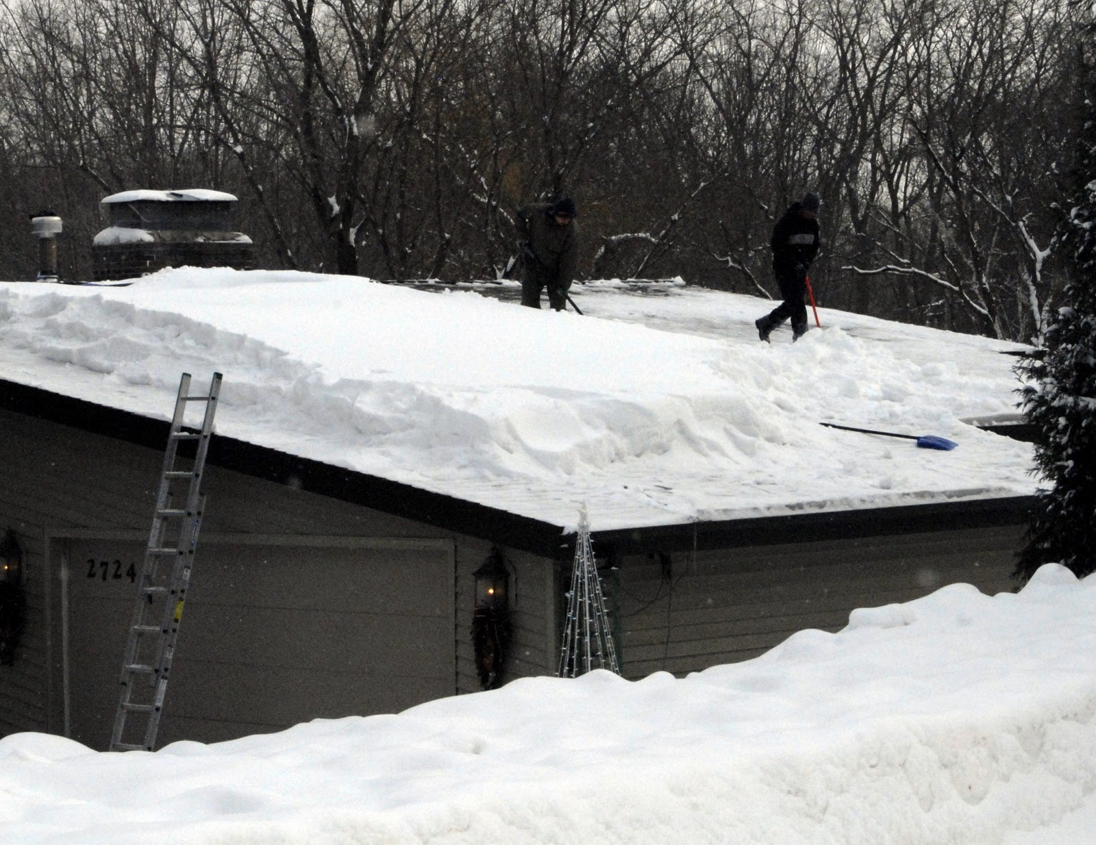 I Quietly Chuckled To Myself When I Saw This House That Had A Sign  Advertising Roof Snow Removal (lf), That Still Appeared To Have A  Considerable Amount Of ...