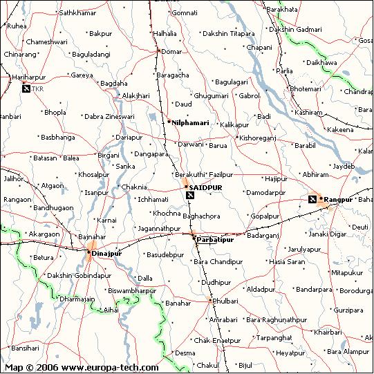 Amar Voobon Rajshahi map