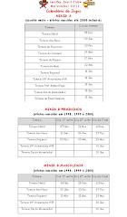 Calendário Torneios dos Minis
