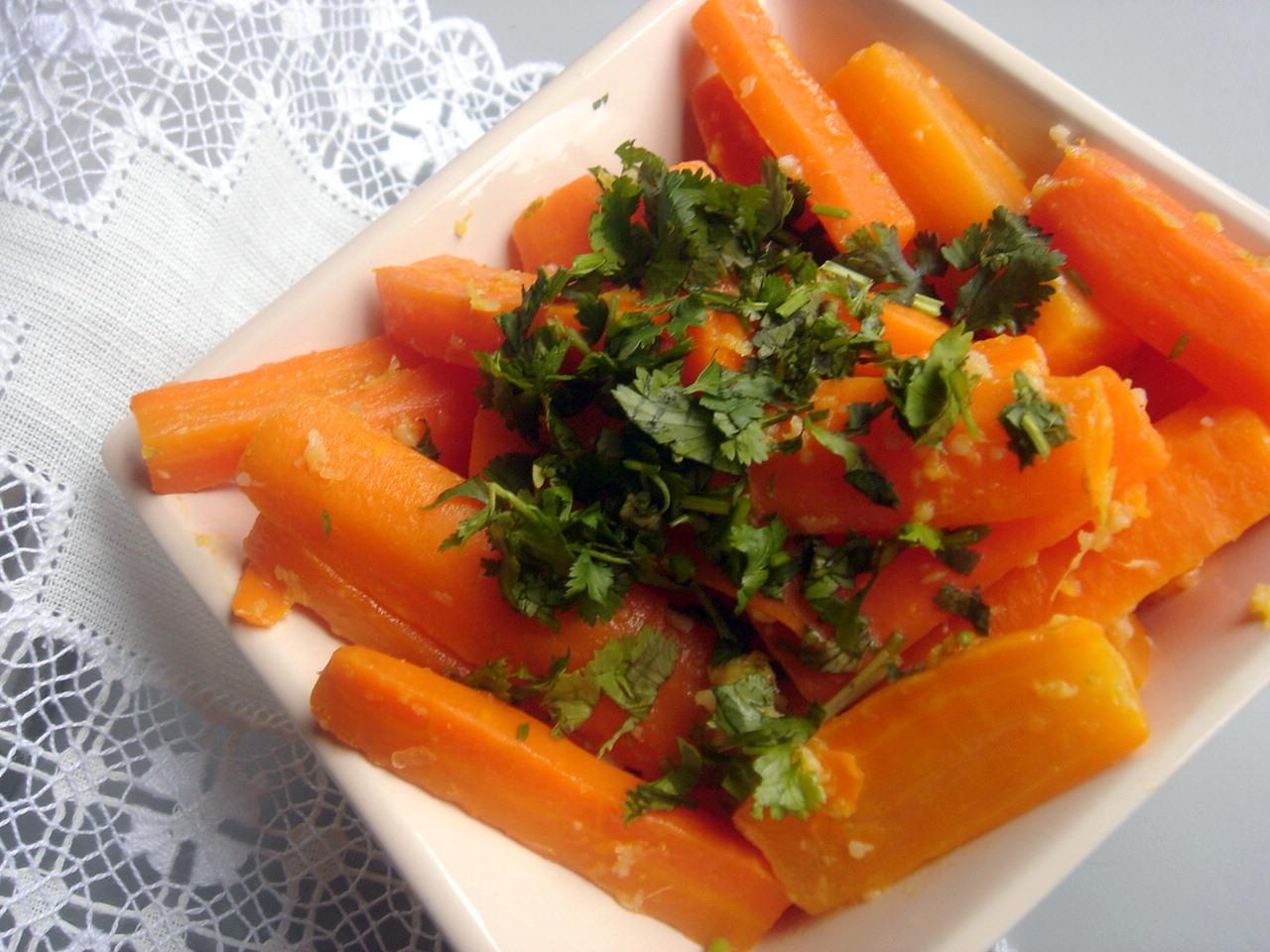La cocina de marianne zanahorias al vapor con jengibre for Cocinar zanahorias al vapor