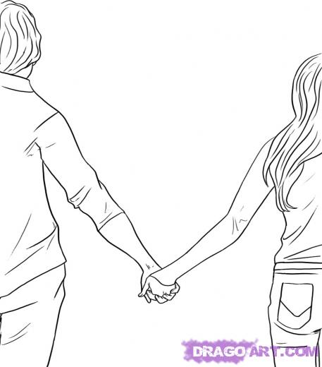 Earxagangnad Holding Hands Love Drawing