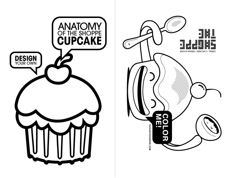 dinosaur coloring sheets Cupcake Coloring Page