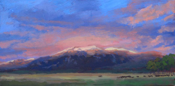 taos mountain sunset (first