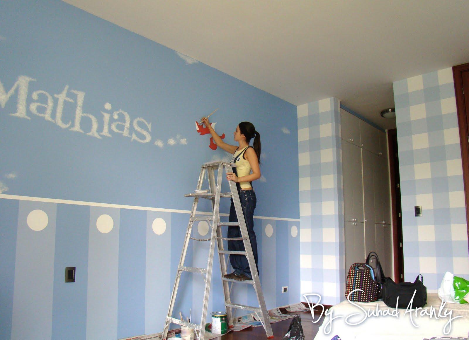 Murales en Dormitorios: Cuarto bebu00e9 - Aviones