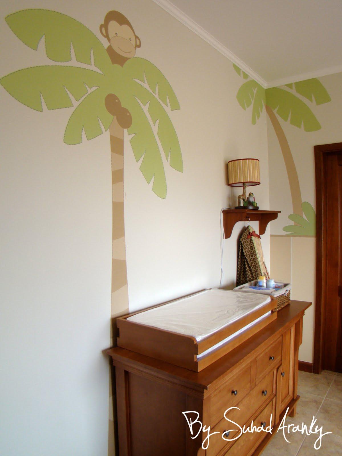 Murales en dormitorios cuarto beb selva for Ver cuartos decorados